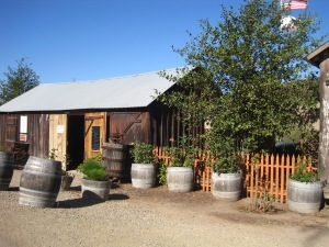Foxen Vineyard tasting shack.  Really good Pinot and Chardonnay.